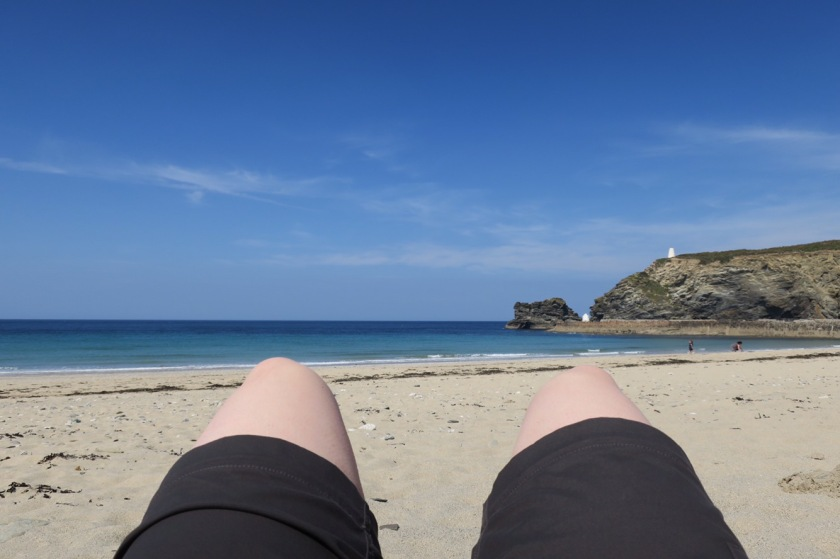 Knees on the beach!
