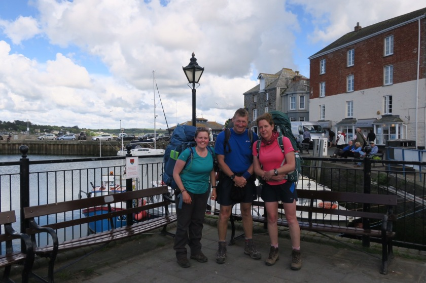 Ronnie, Julie and I at Padstow harbour