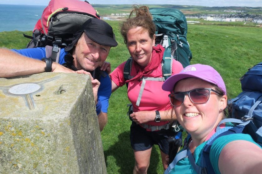 Ronnie, Julie and me at the second trig of the day