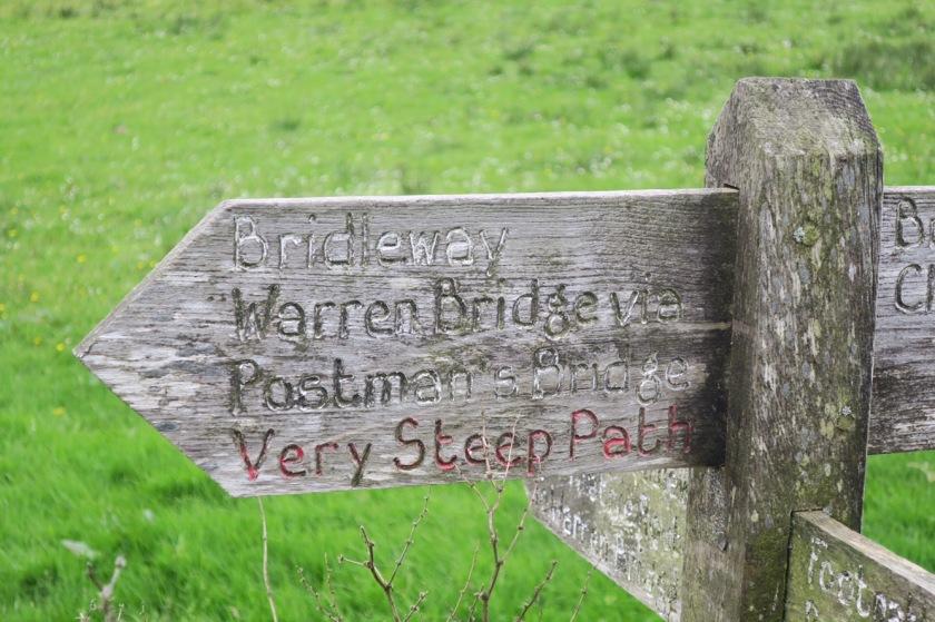 'Very steep path'