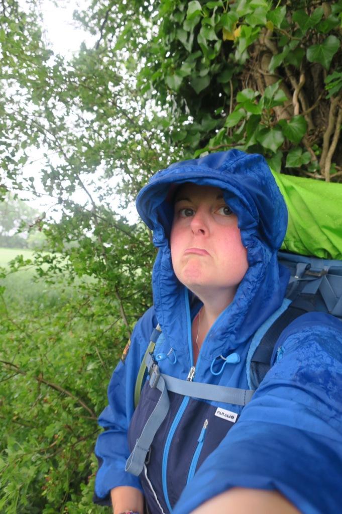 Looking sad in the rain!