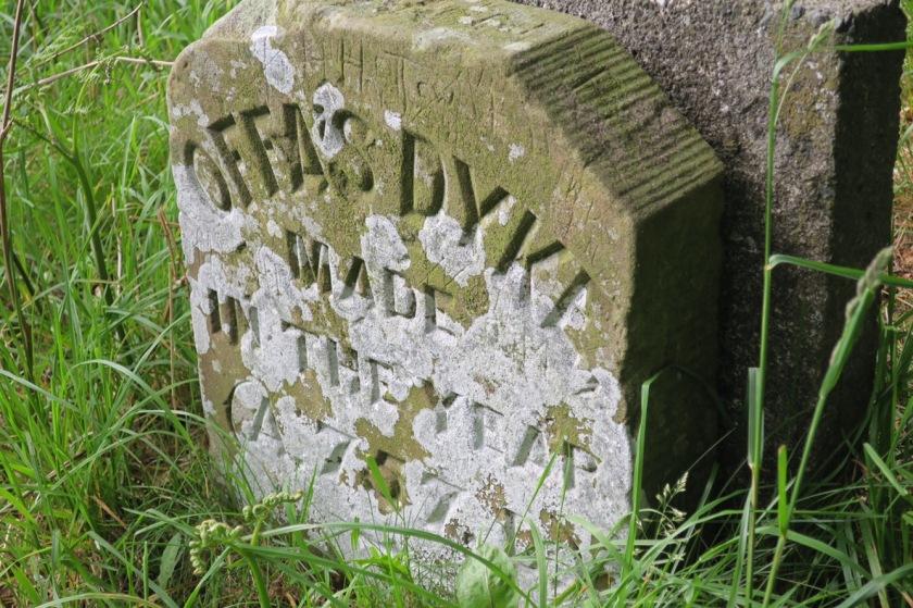 Offa's Dyke marker stone