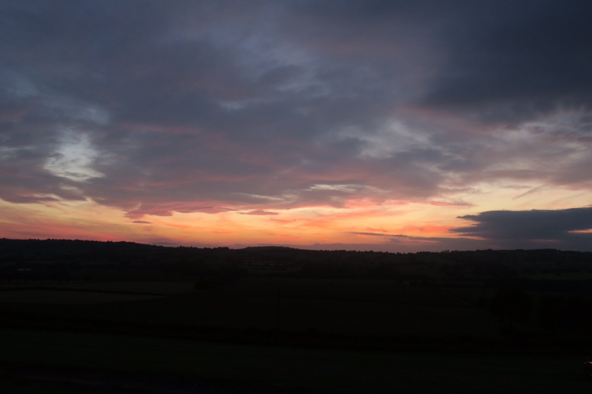 Sunset from Lower Hill Farm