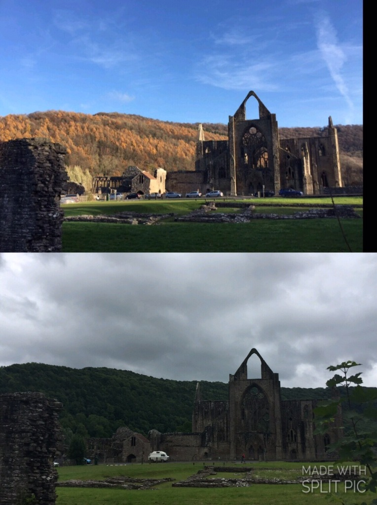 Tintern Abbey - in November and in June