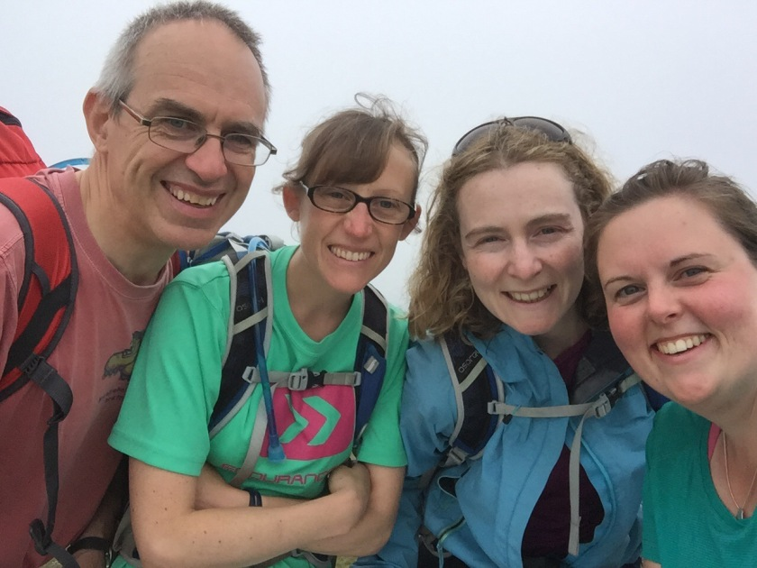 Chris, Clare, Ciara and me at the top of Dunkery Beacon