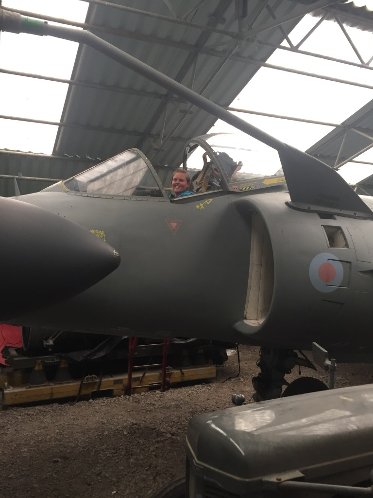 Me in a Sea Harrier Jump Jet - as you do!
