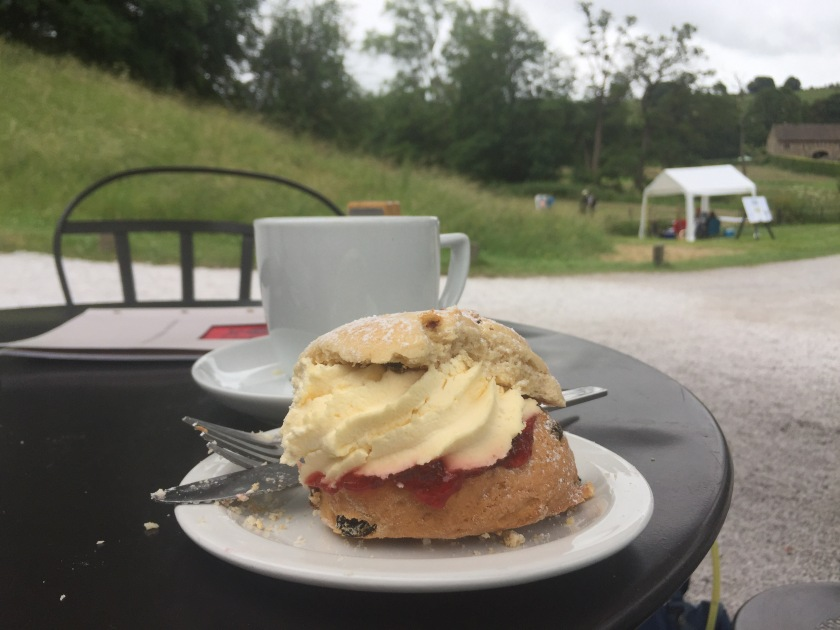 Mmm cream scone at Haddon Hall