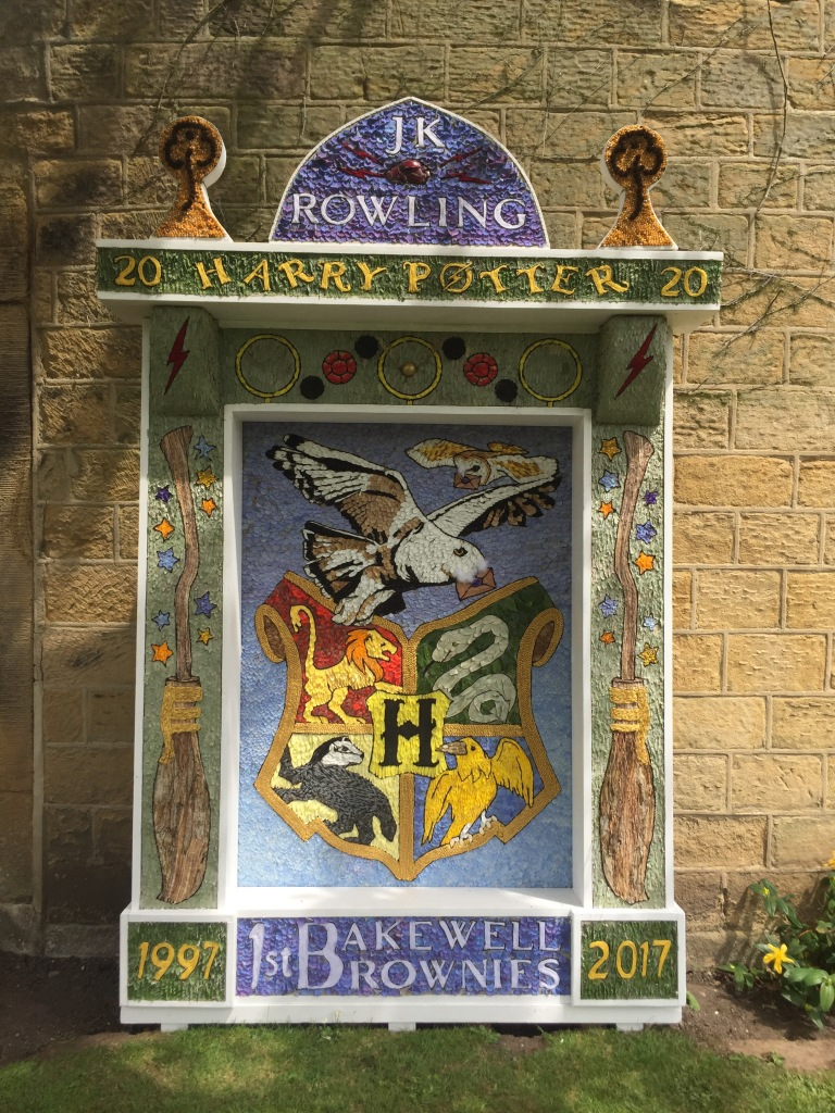 A well dressing in Bakewell
