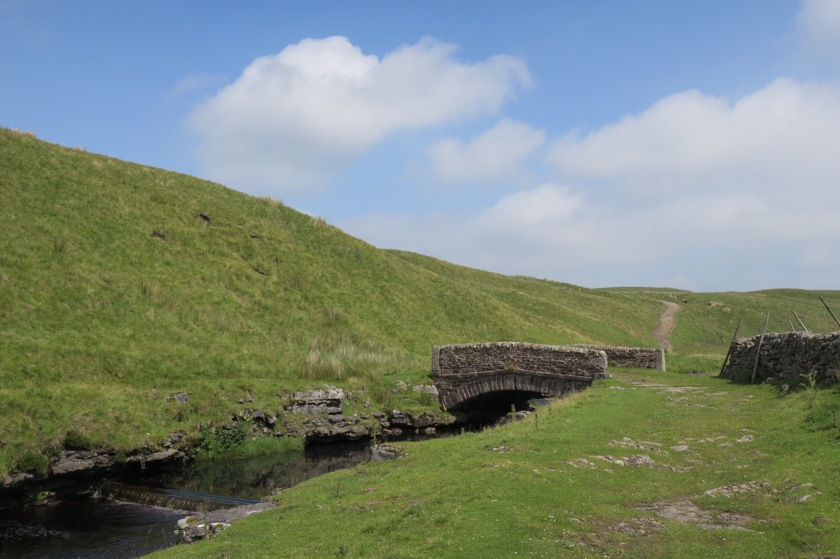 Route over an old bridge at Ling Gill